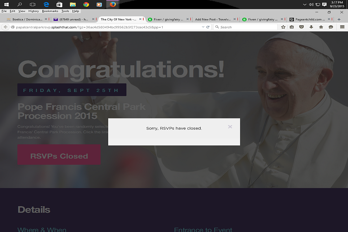 papal visit nyc 2015 tickets